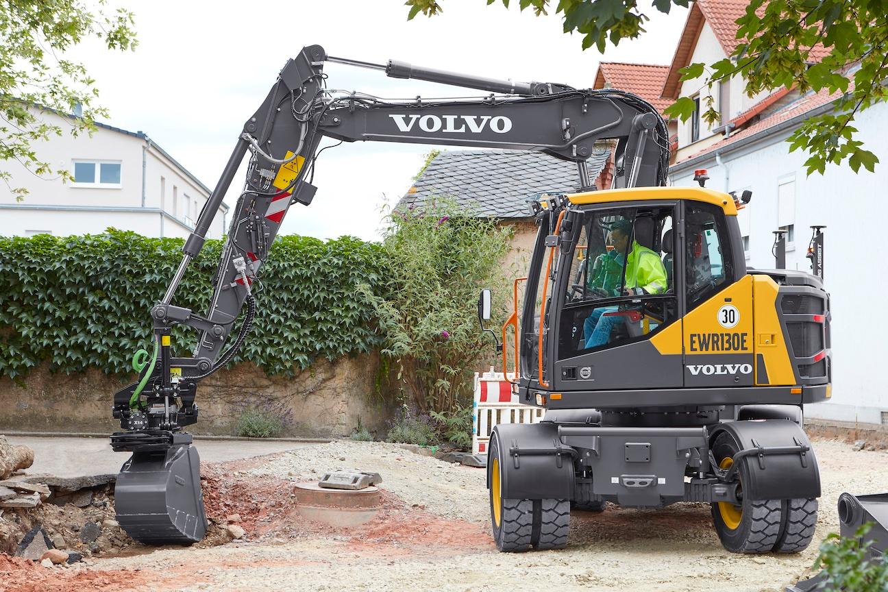 Volvo EWR130E wheeled excavator